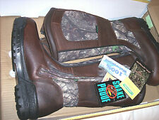 Mens 8.5 Snake Proof Boots Waterproof Boots Camo Hunting Boots Leather Boots