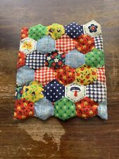 Dollhouse Miniature Bed Quilt Dollhouse Doll Quilt  Hand Quilted Small Blanket