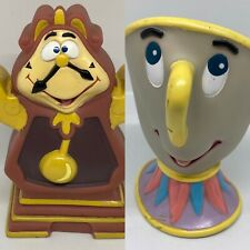 rubber Beauty and the Beast toys - chip & cogsworth