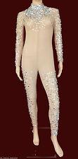 Da NeeNa M016a Burlesque Vegas Showgirl Body Painting Nude Bodysuit XS-XL