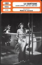 LA COURTISANE - Garbo,Gable (Fiche Cinéma) 1931 - Susan Lenox-Her Fall And Rise