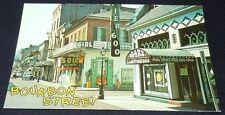 Vintage Postcard Bourbon Street French Quarter Cat Girl