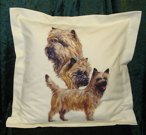 Hand Crafted Cairns dog cushion cover