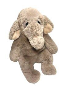"14"" Aurora Sluuumpy Plush Brown ELEPHANT Sitting Stuffed Animal Toy Sleepy Soft"