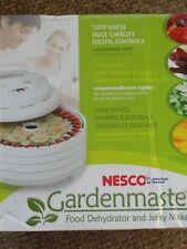 Nesco FD-1040 Gardenmaster 1000 Watt Food Dehydrator w 4 Trays Expandable to 20