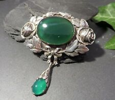 Antiquitäten & Kunst Jugendstil Jugendstil Silber Armband Chrysopras E Art Nouveau Silver Bracelet Um 1910 Rar E