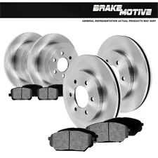 Front And Rear Brake Rotors + Metallic Pads For Chevy Silverado Suburban Sierra