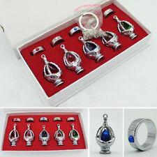 Anime Puella Magi Madoka Magica Soul Gem Necklace Keychain Pendant+Ring+Box Gift