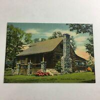 """VINTAGE 1930s Mini Photographs Souvenir Pictures 3X2""""Old Matt's Cabin MO"""