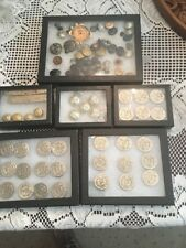 Vintage Lot US Military Fire Police Royal Army Medical Uniform Buttons More Look