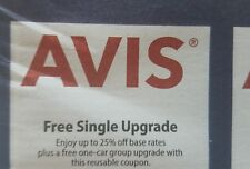 6 AVIS Car Rental coupons expire 12/2018  FREE upgrade, FREE day, $10 off etc