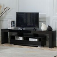 TV Stand Unit Cabinet W/ 2 Drawers Sideboard Cupboard 63'' Living Room Furniture