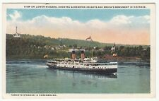 "[63175] OLD SHIP POSTCARD NIAGARA STEAMER ""CAYUGA"" SHOWING QUEENSTON HEIGHTS"