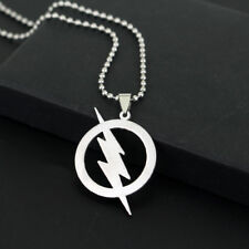 Elvis Presley Round Lightning Bolt Logo TCB Silver Plated Pendant Chain Necklace