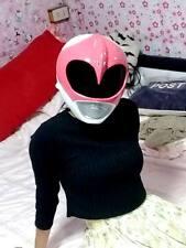 Pink Helmet Power Rangers Costume Adult Cosplay Mighty Morphin Fancy Hero Japen