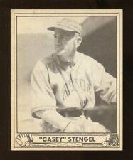 "1940 Play Ball ""CASEY"" STENGEL Rookie Baseball #141 Vg-Ex No Creases (JO236)"