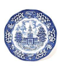 Avon 1976 independence hall bicentennial plate award birthplace declaration