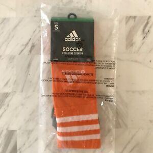 Adidas Copa Zone Cushion Sock Size Small Pair Orange Soccer