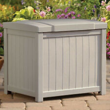 Patio Storage Box Outdoor Garden Furniture Resin Deck Bin Pool Yard Container
