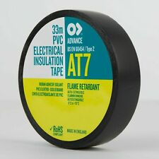 30 x ADVANCE AT7 Black PVC Electrical Insulating Insulation Tape 20 x 19 EPT7x3