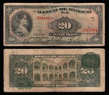 Mexico 20 Pesos Corregidora 21-APR-1937. Series L First Year. P-40d VG. 2944964
