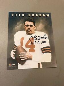 OTTO GRAHAM HOF 1965 Cleveland Browns SIGNED Original 8x10 PHOTOGRAPH