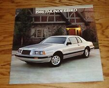 Original 1986 Ford Thunderbird Deluxe Sales Brochure 86 elan Turbo Coupe
