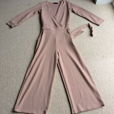 Boohoo size 8 culottes jumpsuit playsuit holiday evening
