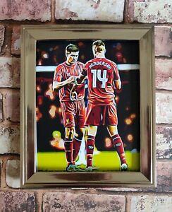 Liverpool fc Gerrard Henderson Pop Art Tribute Football Picture