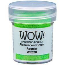 WOW! Fluorescent Embossing Powder Green Regular   15ml Jar