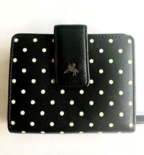 Ladies Black and Lemon Polkadot Visconti Leather Wallet Purse