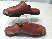 COLE HAAN Men's Brown Leather Slide Sandals - Size 7.5