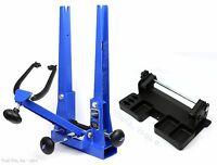 Park Tool TS-2.2P Blue Pro Bicycle Wheel Truing Stand + TSB-2 Tilting Base Set