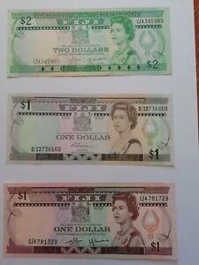 Lot de 3 billets FIJI - UNC