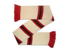Manchester United Away Colours Soccer Gift Bar Scarf WHITE