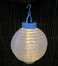LED Solar Round Lantern Warm White 20cm
