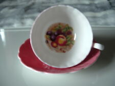 Aynsley Orchard Fruit Pink Cup & Saucer
