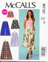 MCCALL'S SEWING PATTERN 7131 MISSES SZ 16-24 CULOTTES, WIDE LEG PANTS & SHORTS