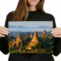 A4 - Bagan Myanmar Pagan Kingdom Poster 29.7X21cm280gsm #2209