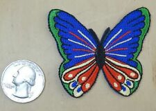 "MINI BUTTERFLY  IRON-ON / SEW-ON EMBROIDERED  PATCH 2.25""x 2"""
