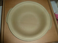 "Pampered Chef Family Heritage Collection Stoneware 12"" Baking Bowl 1450 Roaster"