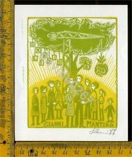 Ex Libris Originale Gianni Mantero a 186 Lilo 1977