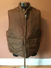 Nylon Insulated Vest Quilted Full Zip  Pockets Mens XXL Brown Wick USA