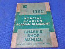 1965 PONTIAC ACADIAN BEAUMONT SHOP MANUAL service *original*