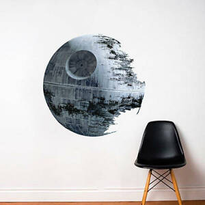 Death Star Wall Decal Star Wars Death Star Bedroom Graphic Mural Sticker, a87