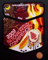 MIKANAKAWA LODGE OA 101 CIRCLE TEN COUNCIL TX 56 209 2-PATCH 2009 NOAC FLAP