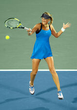 NIKE VICTORIA AZARENKA AQUA TURQUOISE BLUE FLATTERING FIT TENNIS DRESS L FAB!