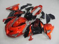 06-11 For Kawasaki Ninja ZX14R ZZR1400 Orange Fairings Bodywork Kit ABS Plastic