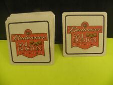 BUDWEISER 2000- SAIL BOSTON LOGO COASTERS (10) pack- NEW