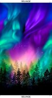 "Aurora Panel Cotton Fabric Panel Timeless Treasures Borealis Lights 44"" x 23"""